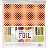 Echo Park Paper Dots/Stripes - Combo W/Black Foil Double-Sided Collection Pack, 12 x 12, 12/Pkg (D