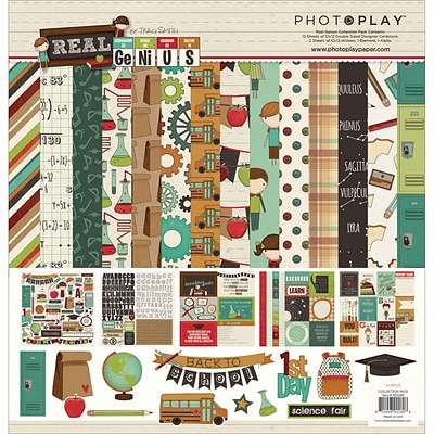 Photo Play Paper Real Genius Collection Pack, 12 x 12 (PPRG2280)
