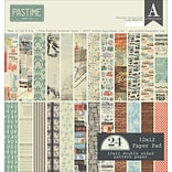 Authentique Paper Pastime, 12 Designs/2 Each Double-Sided Cardstock Pad, 12 x 12, 24/Pkg (PAS016)