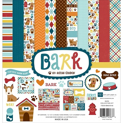Echo Park Paper Bark Collection Kit, 12 x 12 (BK97016)