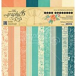 Graphic 45 Cafe Parisian Print & Solid, 12 Designs Double-Sided Paper Pad, 12 x 12, 24/Pkg (G45014