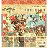 Graphic 45 Off To The Races, 12 Designs/2 Each Double-Sided Paper Pad, 8 x 8, 24/Pkg (G4501459)