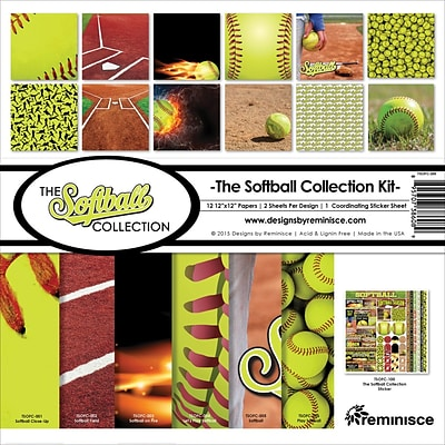 Reminisce Softball Collection Kit, 12 x 12 (TSOFC200)