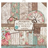 Stamperia Intl Roses, Lace & Wood; 10 Designs/1 Each Double-Sided Paper Pad, 12 x 12, 10/Pkg (SBBL