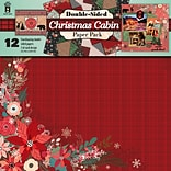 Hot Off The Press Christmas Cabin Double-Sided Paper Pack, 12 x 12, 12/Pkg (HOP-PPK-4279)
