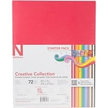 Neenah Paper 18 Bold & Vivid Colors Creative Collection Cardstock Starter Pack 8.5 x 11, 72/Pkg (4