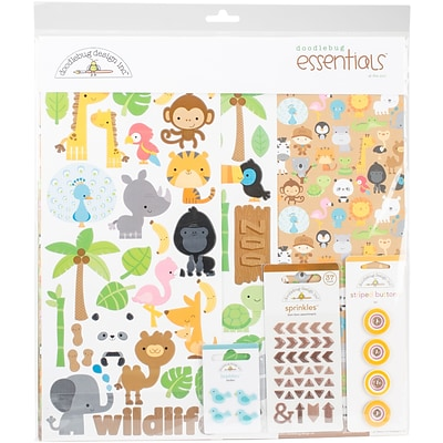 Doodlebug At The Zoo Essentials Page Kit, 12 x 12 (ATZ5686)