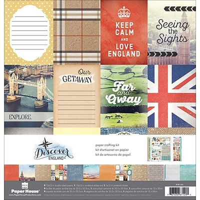 Paper House England Paper Crafting Kit, 12 x 12 (KTSP1036)