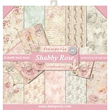 Stamperia Intl Shabby Rose, 10 Designs/1 Each Double-Sided Paper Pad, 12 x 12, 10/Pkg (SBBL12)
