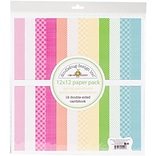 Doodlebug Spring Petite Prints Double-Sided Cardstock, 12 x 12, 12/Pk (SPRG5524)