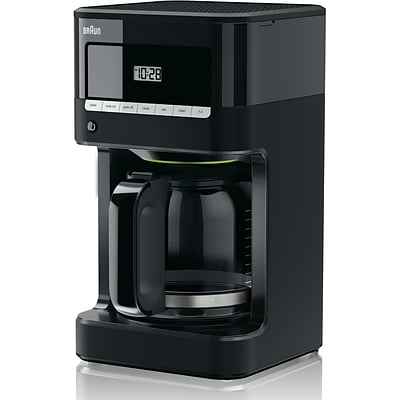 BRAUN BrewSense 12 Cups Automatic Drip Coffee Maker, Black (KF7000BK)