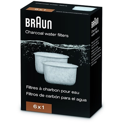 Braun Charcoal Water Filter for BrewSense Drip Coffee Makers (24255370)