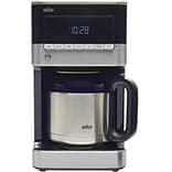 Braun Brew Sense 10-Cup Drip Coffee Maker with Thermal Carafe in Black/Stainless (24255341)