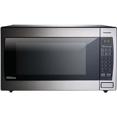 Panasonic 2.2 cu. ft. 1250W Genius Sensor Countertop/Built-In Microwave Oven with Inverter Technology (NN-SN966SR)
