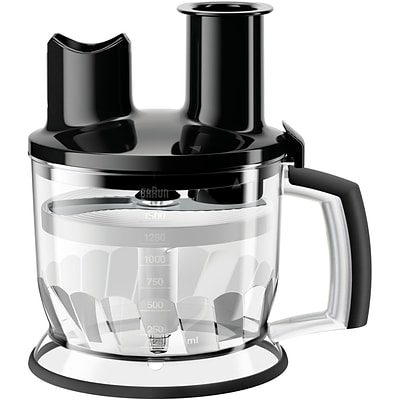 Braun 6-Cup Food Processor Attachment for MultiQuick Hand Blenders in Black (MQ70BK)
