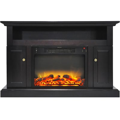 """Cambridge Sorrento Electric Fireplace With An Enhanced Log Display And 47"""" Entertainment Stand In Black Coffee (cam5021 2coflg2)"""