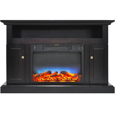"""Cambridge Sorrento Electric Fireplace With Multi Color Led Insert And 47"""" Entertainment Stand In Black Coffee (cam5021 2cofled)"""