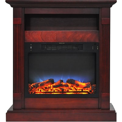 Cambridge Sienna 34 Electric Fireplace w/ Multi-Color LED Insert and Cherry Mantel (CAM3437-1CHRLED)