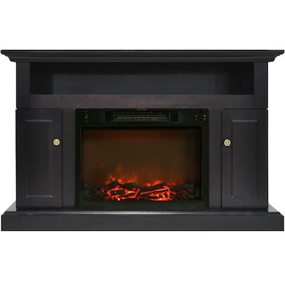 """Cambridge Sorrento Electric Fireplace With 1500w Log Insert And 47"""" Entertainment Stand In Black Coffee (cam5021 2cof)"""