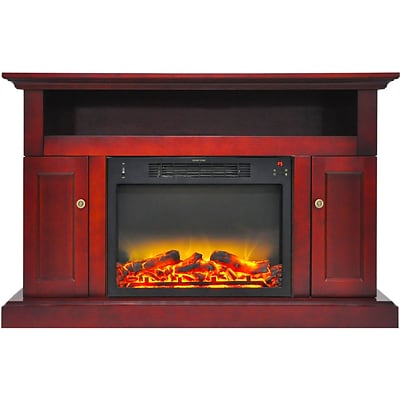 Cambridge Sorrento Electric Fireplace with an Enhanced Log Display and 47 Entertainment Stand in Cherry (CAM5021-2CHRLG2)