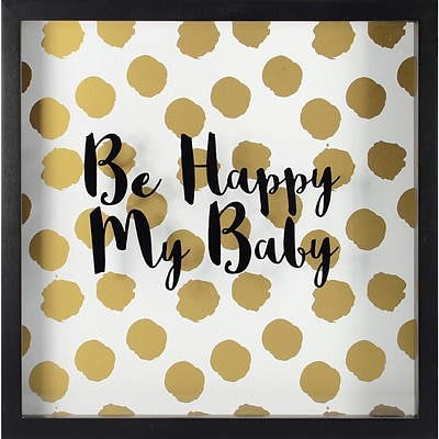Linden Avenue Wall Art Happy Baby -Gold 10 x 10 (AVE10048)