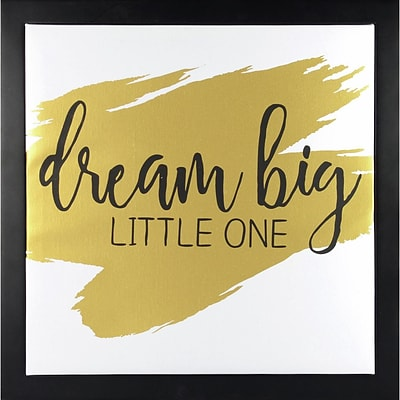 Linden Avenue Wall Art Dream Big Little One-Gold 12 x 12 (AVE10051)