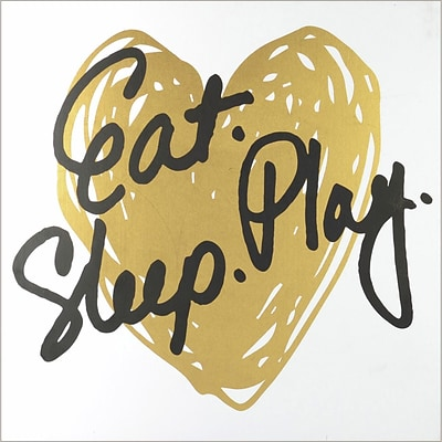 Linden Avenue Wall Art Eat Play Sleep - Gold 8 x 10 (AVE10052)