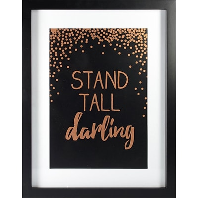 Linden Avenue Wall Art Stand Tall Darlin Rose Gold 11 x 14 (AVE10066)