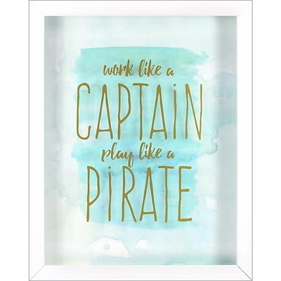 Linden Avenue Wall Art Captain Pirate 12 x 12 (AVE10107)