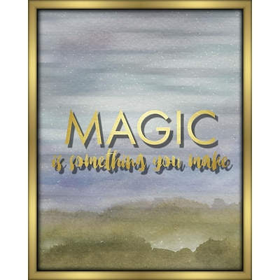 Linden Avenue Wall Art MAGIC IS SOMETHING YOU MAKE- BLUE 16 x 20 (AVE10295)