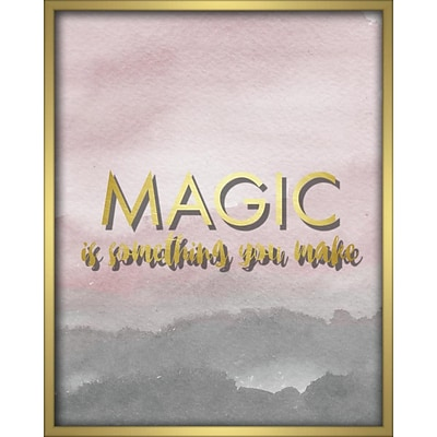 Linden Avenue Wall Art MAGIC IS SOMETHING YOU MAKE-BLUSH 16 x 20 (AVE10301)