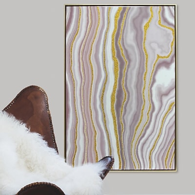 Linden Avenue Wall Art GLITTER VEINS AGATE- GREEN 24 x 36 (AVE10304)