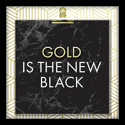 Linden Avenue Wall Art GOLD IS THE NEW BLACK 10 x 10 (AVE10358)