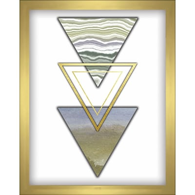 Linden Avenue Wall Art 3 TRIANGLES- BLUE 8 x 10 (AVE10360)