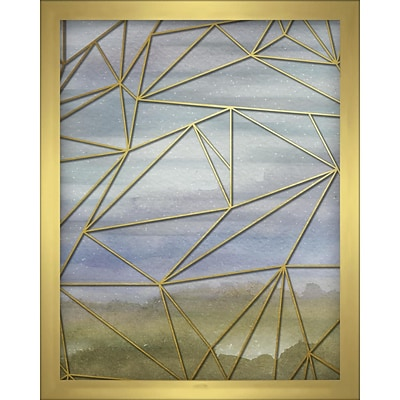 Linden Avenue Wall Art FRACTAL WATERCOLOR -BLUE 8 x 10 (AVE10362)