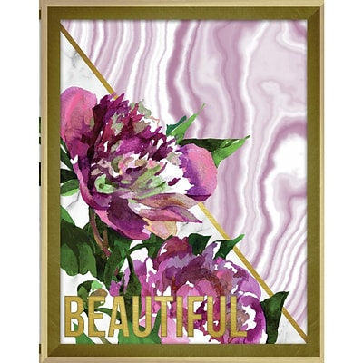 Linden Avenue Wall Art BEAUTIFUL MARBLE AND WATERCOLOR PEONIES 11 x 14 (AVE10387)