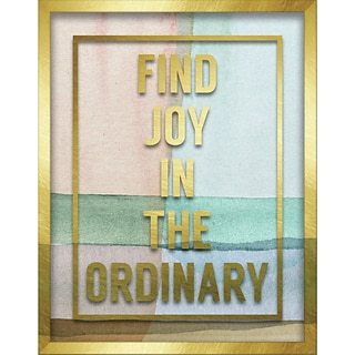Linden Avenue Wall Art FIND JOY IN THE ORDINARY 11 x 14 (AVE10415)