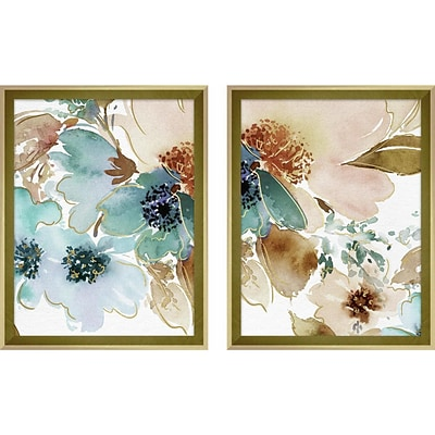 Linden Avenue Wall Art WATERCOLOR PEONIES I&II BLUE 11 x 14 (AVE10425)