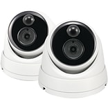 Swann 3.0-Megapixel PIR Add-on Bullet Camera for 4780 Series, 2 pk (SWPRO-3MPMSDPK2-US)