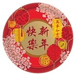 Amscan Chinese New Years Blessing Paper Plate, 7 x 7, 5/Pack, 8 Per Pack