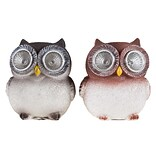 Pure Garden Solar LED Owl Statue 2-Pack (M150083)
