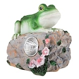 Pure Garden Solar LED Frog Statue (M150085)