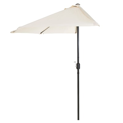 Pure Garden 9 Half Round Patio Umbrella Tan (M150055)