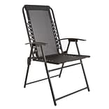 Pure Garden Suspension Folding Chair Black (M150120)