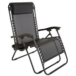 Pure Garden Zero Gravity Patio Chair Black (M150116)