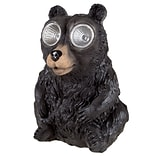 Pure Garden Solar LED Weather Resistant Polyresin Bear Statue (M150086)