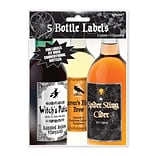 Amscan Halloween Bottle Labels, 5.25 x 3.25, Paper, 5/Pack, 5 Per Pack (159634)