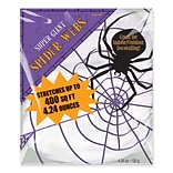 Amscan Stretch Spider Web, 4.24 oz., White, 2/Pack (240082)