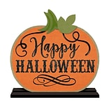 Amscan Halloween Pumpkin Table Sign, 11.75 x 12, MDF, 2/Pack (241832)