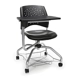 Stars Foresee Vinyl Tablet Chair, Charcoal (329T-VAM-604)